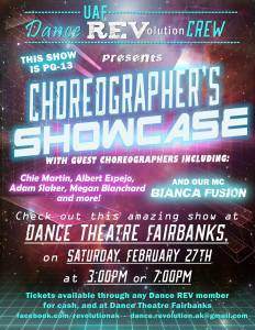 Choreographer Showcase flier